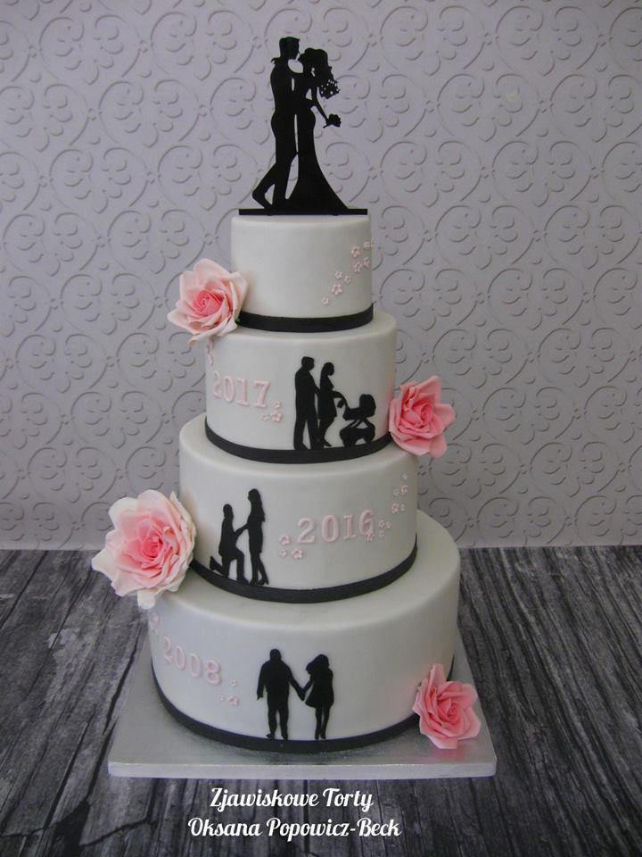 Tort ślubny weselny