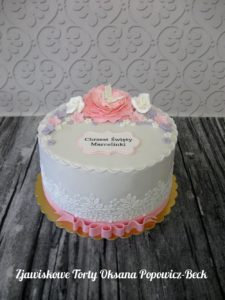 tort kwiatowy na chrzest