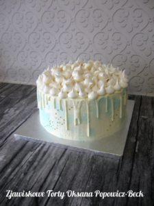 Drip cake z bezą