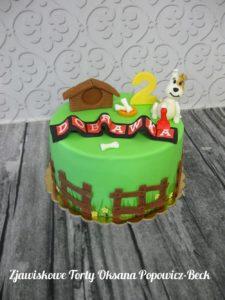 Tort Reksio na urodziny dziecka