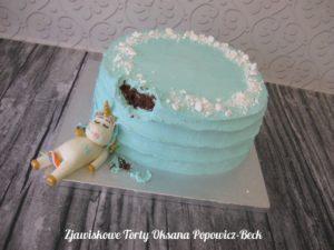 Tort z jednorożcem łakomczuchem