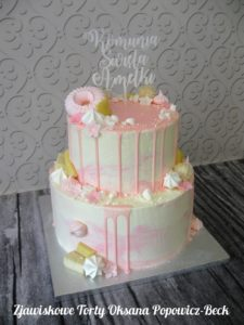 Drip cake dwa pietra z beza