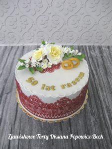 Tort na 50 rocznicę ślubu