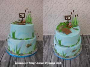 Tort urodzinowy dla wędkarza