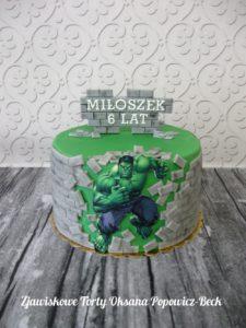 Tort dla dziecka Marvel Hulk Avengers