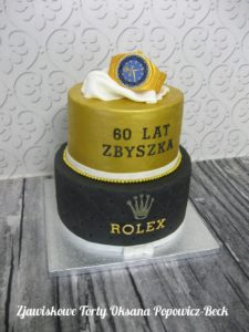 Tort na 60 urodziny rolex