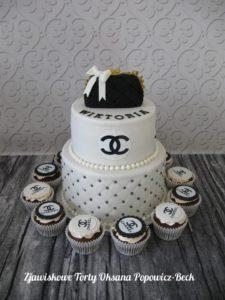 Tort z torebką Coco Chanel