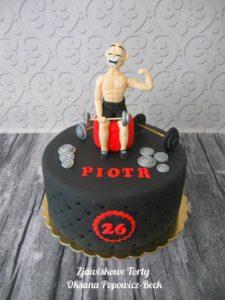Tort urodzinowy dla siłacza