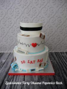 Tort dla piguły na 50 urodziny