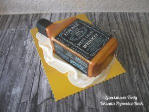 Tort 3D butelka jack daniel's
