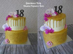 Tort na osiemnaste urodziny
