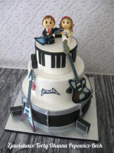 Rock&roll wedding cake