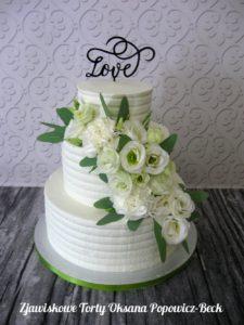 Tort bez masy z żywymi kwiatami