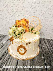 Tort na złote gody